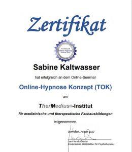 Online Hypnose Zertifikat